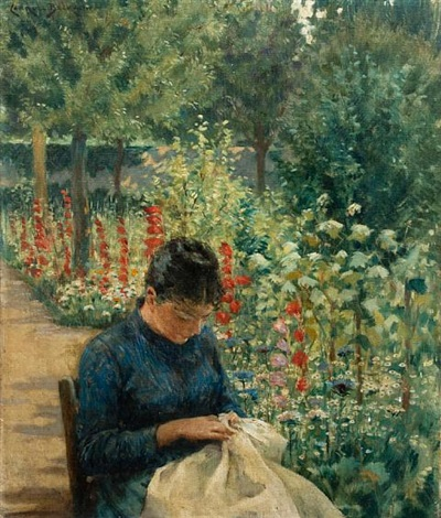 the garden of giverny france by james carroll beckwith