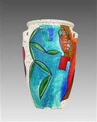 painted vase by italo scanga