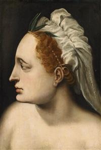 head of a woman by frans floris the elder
