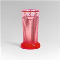 gefußte vase für die kölner werkbundausstellung 1914 by josef hoffmann