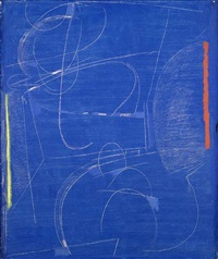 komposition auf blau by max ackermann