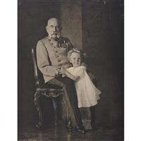 emperor kaiser frannz joseph with archduke otto by hermann clemens kosel