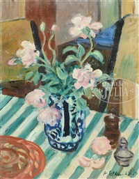 still life of flowers by waldo peirce