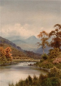 in the trossachs above arduli, near loch lomond, argyll by donald a. paton