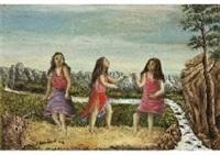 trois femmes by andré bauchant