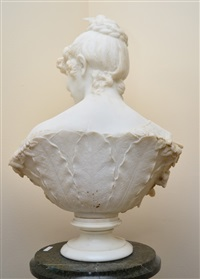 marble bust of a young beauty by alberto cambi