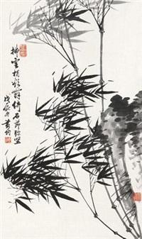 竹石图 by huang jun