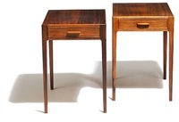 a pair of side tables by svenn eske kristensen