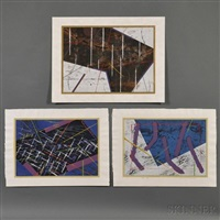 city lights; seascape; auspicious sky (3 works) by yuichi hasegawa