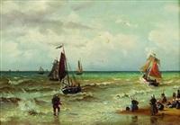 am strand von scheveningen by friedrich wilhelm fabarius