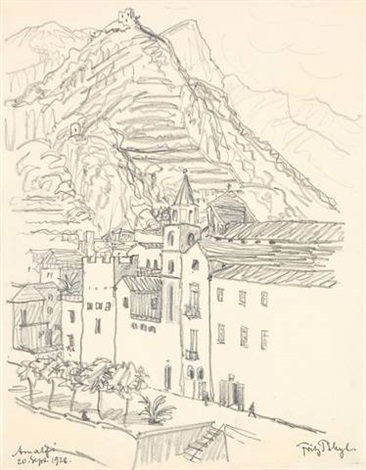 amalfi from a sketchbook by fritz bleyl