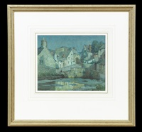the old millpond swanage by a. moulton foweraker