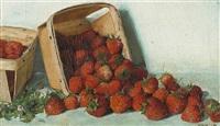 a punnet of strawberries by joseph decker