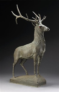 a standing stag by w.h. mullins