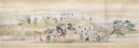 scenes from tsurezuregusa (essays in idleness) by kano yosen korenobu