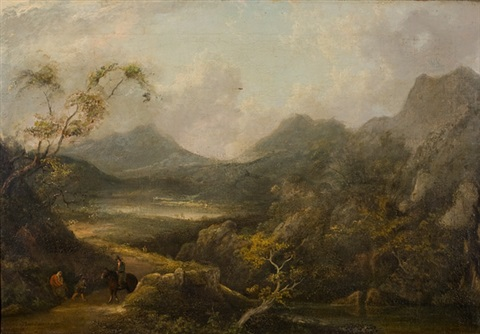 seelandschaft mit figuren und tierstaffage by thomas gainsborough