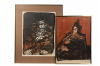 two single figure portraits and one group (3 works) by claude weisbuch