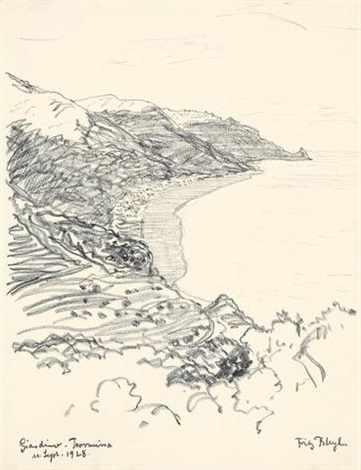 giardino taormina from a sketchbook by fritz bleyl