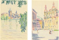 prag (4 works from sketchbk) by fritz bleyl