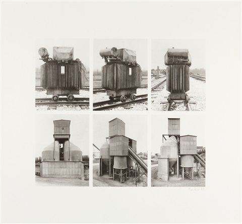 transformator und silo set of 6 by bernd and hilla becher