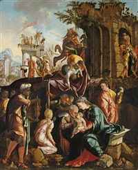 anbetung der heiligen drei könige by jan van scorel