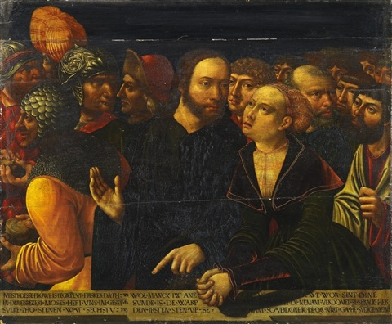 christus und die ehebrecherin by johann (hans) kemmer