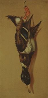 nature morte - mallard duck by louis adolph winterhalder