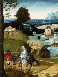 the flight into egypt by flemish school (16)