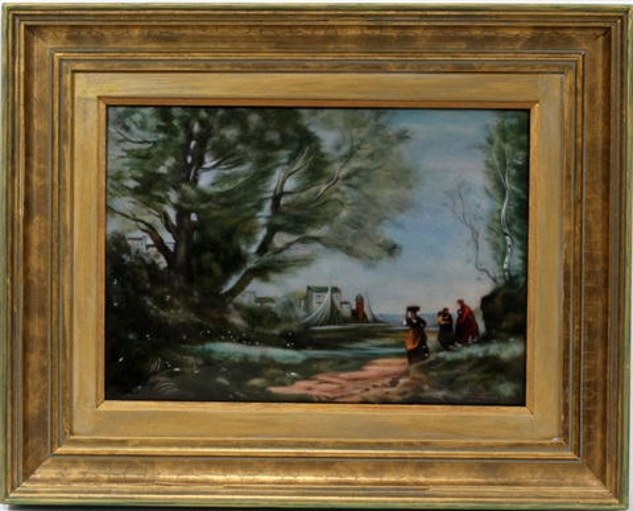 a summer shoreline landscape by camille fauré