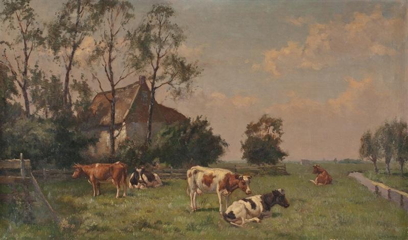 kühe auf der weide am hof by louis soonius