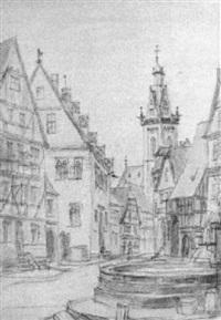 der marktplatz von korbach mit st. kilian im hintergrund by peter becker