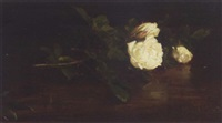 a still life of christmas roses by george reid