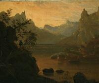 mountainscape by friedrich ernst wolperding