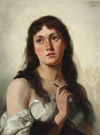 self-portrait by sophie von adelung