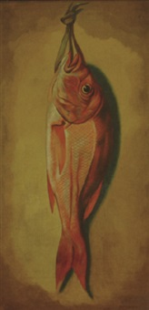 nature morte - redfish by louis adolph winterhalder