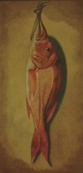 nature morte - redfish by louis adolph winterhalder