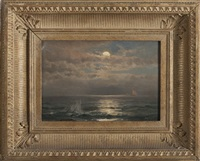 seascape in moonlight by mauritz frederick hendrick de haas