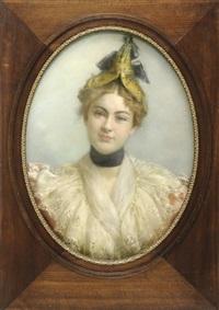 portrait einer jungen dame by clementin sauvages