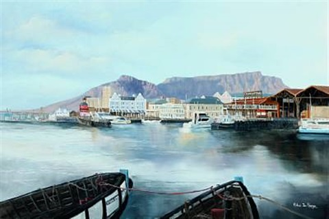 view from gordonsbay in capetown south africa by michael albertyn