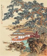 溪风声松图 by liu yongliang