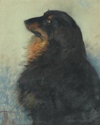 portrait of a dog by thorvald simeon niss