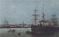 le port de rouen by jules vernier