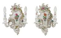 paar wandappliken by von schierholz porzellanmanufaktur