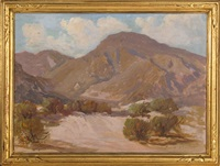 desert landscape, likely california by harry c. smith