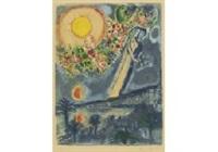 fiancés dans le ciel de nice (from nice et la côté d'azur) by marc chagall