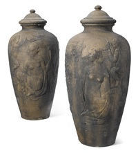 covered garden urns (set of 2) by ernst bruce haswell