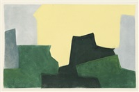 composition verte (after serge poliakoff) by jean signovert