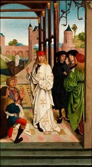 tafelbild mit einer szene aus dem leben eines heiligen by french school (15)