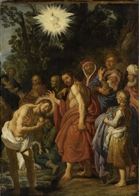 die taufe christi by pieter lastman