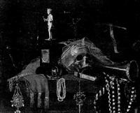 vanitas-stilleben mit totenkopf, schmuck und dem orden vom goldenen vliess by johannes cordua